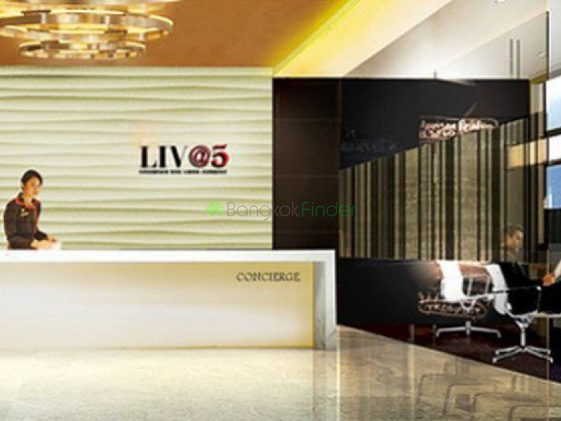 About LIV @ 5  LIV @ 5  LIV @ 5 is a condo project. LIV @ 5 has 8 floors and contains 140 total units, Units range from studio to 2 bedroom. LIV @ 5 at Khlong Toei, Bangkok has the following facilities: parking and security. Local amenities include hospitals such as Ambassador Alexander Health Center and Amrit Mantra, schools such as Duke Language School and Wannawit School, shopping centers such as 7-Eleven, Grand 5 Shopping Mall and M.j.K.World at Grand 5 Shoppingmall, restaurants such as Sunrise Bistro Thai Kitchen, Houesentraeger and Hosen Traeger Restaurant, and the public transport stations of Makkasan, Asok and Ratchaprarop.